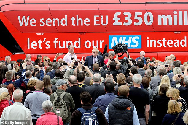 In the 2016 EU referendum campaign Mr Johnson campaigned with a bus reading 'We send the EU £350 million a week let's fund our NHS instead'. Opponents argued using the gross figure - ignoring the British rebate and EU inward investment - was highly misleading